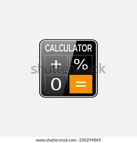 Calculator icon, , vector illustration. Flat design style  - stock vector