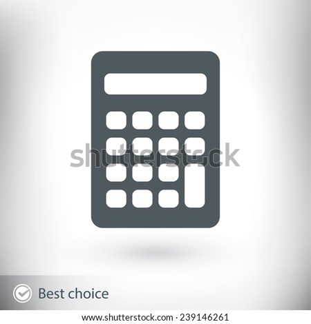 calculator icon, vector illustration. Flat design style - stock vector