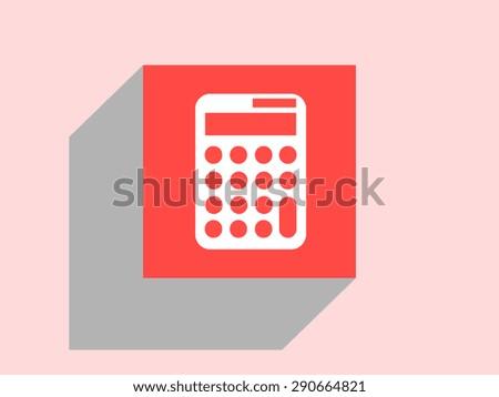 Calculator icon, vector illustration. Flat design style - stock vector