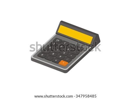 calculator isometric illustration - stock vector