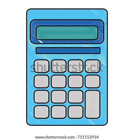Calculator Math Device Icon Stock Vector 751152934 - Shutterstock