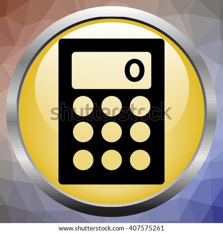Calculator on a yellow Background - stock vector