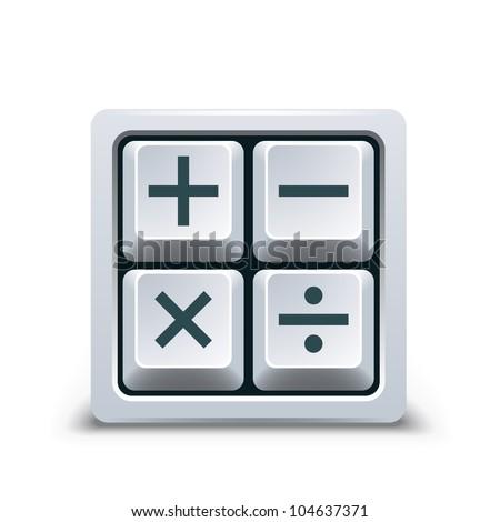 Calculator symbol - stock vector