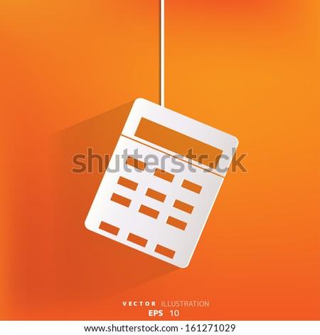 Calculator web icon - stock vector