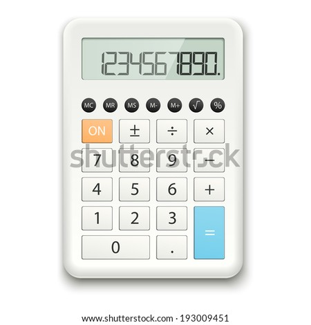 Calculator white - stock vector
