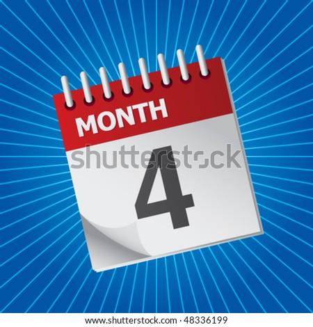 calendar blue starburst - stock vector