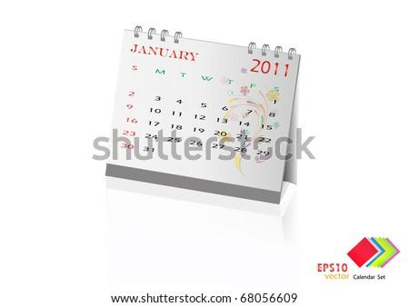 Calendar Design January 2011. Vector illustration. - stock vector
