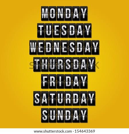 calendar design over yellow background vector illustration - stock vector