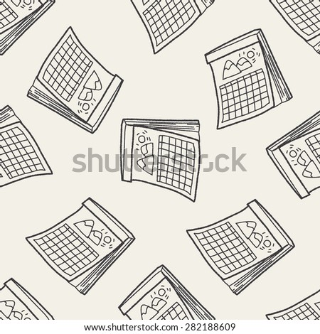 Calendar doodle seamless pattern background