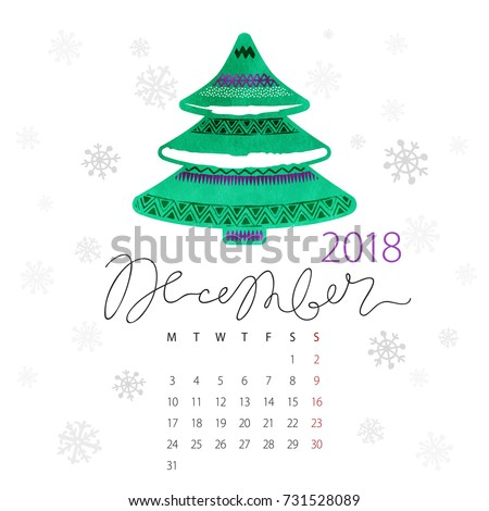 Calendar First Day Stock Vectors, Images & Vector Art | Shutterstock