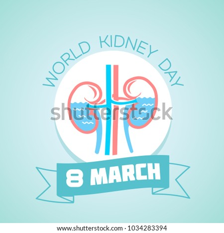 Calendar each day on march 8 stock vector royalty free 1034283394 calendar for each day on march 8 greeting card holiday world kidney day m4hsunfo