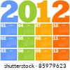 Calendar for Year 2012 - stock vector