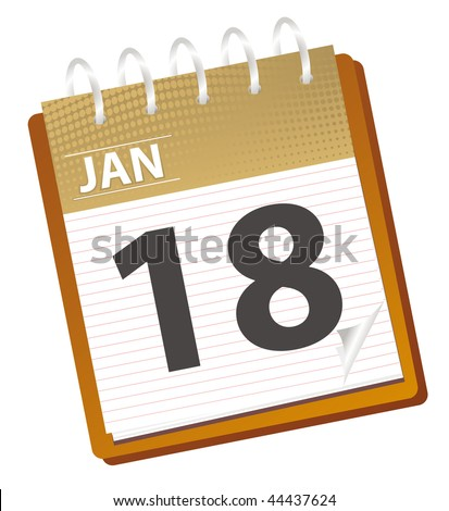 calendar from january, check my other months - stock vector