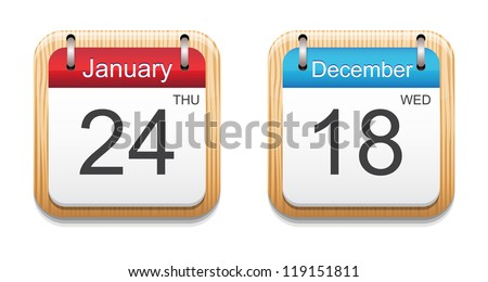Calendar 2013 icon - stock vector