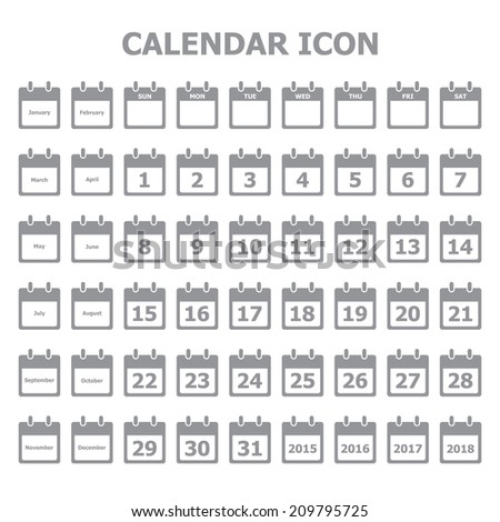 Calendar icon - stock vector