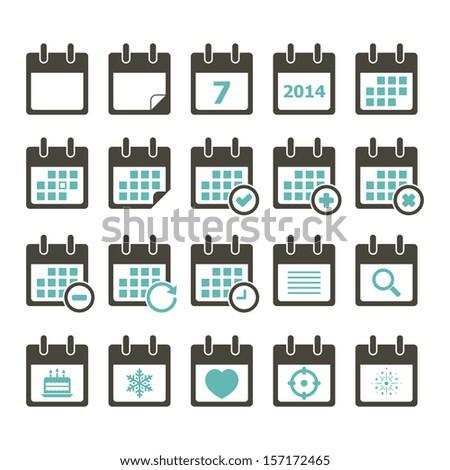 Calendar Icon - Color - stock vector