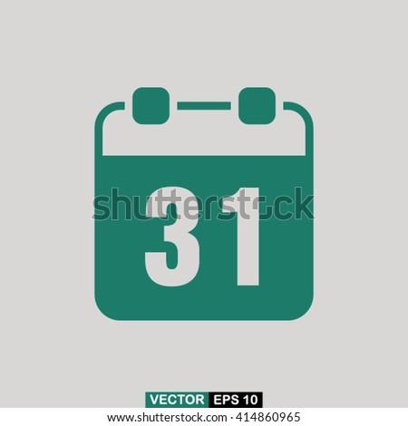 Calendar icon vector, calendar icon eps10, calendar icon illustration, calendar icon picture, calendar icon flat design, calendar icon, calendar web icon, calendar icon art, calendar icon drawing - stock vector