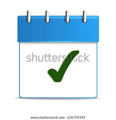 Calendar icon, vector illustration. Flat design style - stock vector