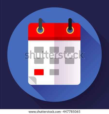 Calendar icon, vector illustration. Flat 2.0 design style - stock vector