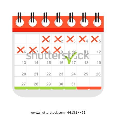 Calendar icon vector isolated, calendar icon graphic reminder element message symbol. Calendar icon message template shape office calendar icon appointment. Binder schedule calendar icon. - stock vector