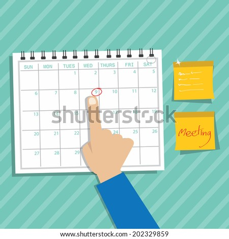 Calendar Infographic ,appointment concept - stock vector