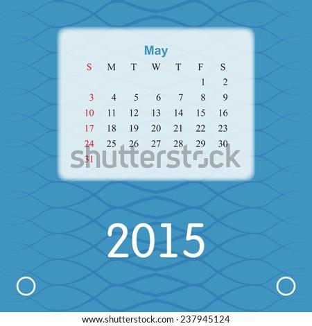 Calendar 2015 May 2015 Calendar Design Stock Vector 2018 237945124