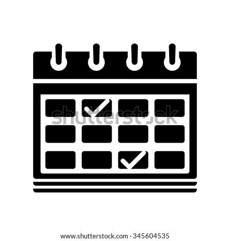 calendar milestones icon - stock vector
