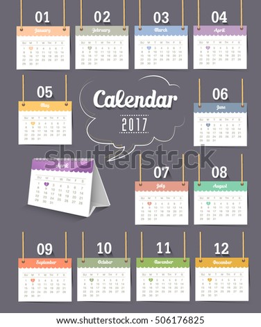 Calendar 2017 - Monthly ,day ,date,years,week,holiday,plan,template,timely,event