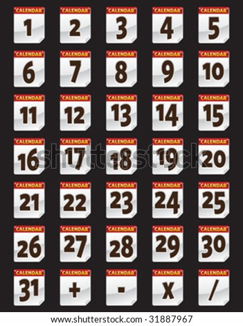 Calendar & Number - stock vector