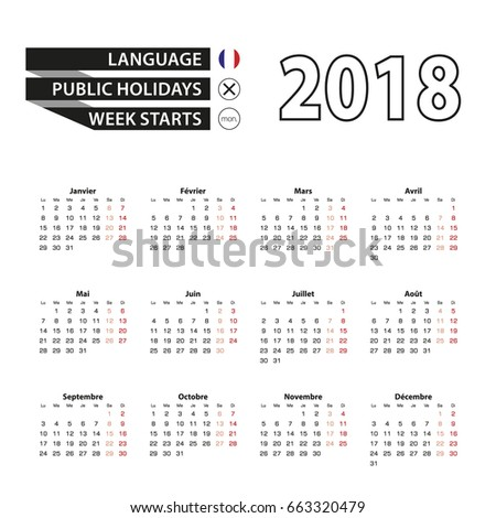 A Calendar French Stock Images Royalty Free Images
