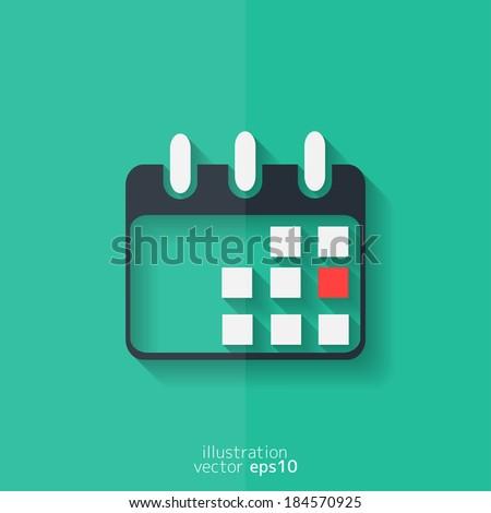 Calendar organizer icon. Date symbol. Flat design. - stock vector
