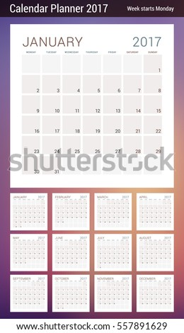 months of the year template