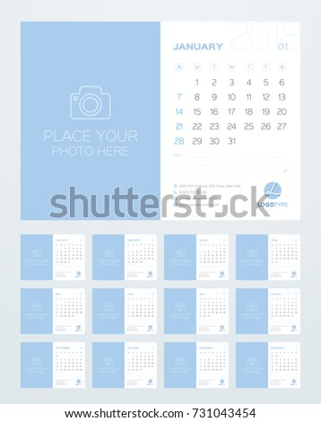 Calendar template 2018 year set 12 stock vector 731043454 shutterstock calendar template for 2018 year set of 12 months business planner with year calendar friedricerecipe Choice Image