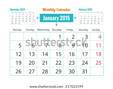 Calendar to schedule monthly. - stock vector