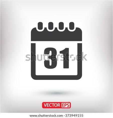Calendar vector icon - stock vector