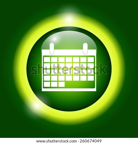 calendar - vector icon. Flat vector illustrator  - stock vector