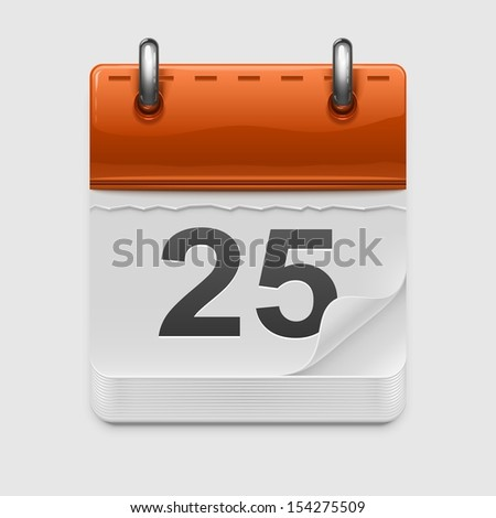 calendar vector icon xxl - stock vector