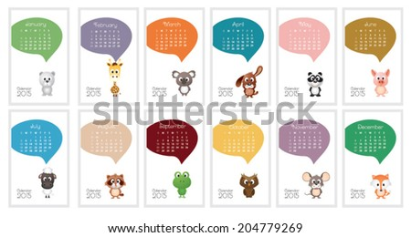 Calendar 2015. Vector illustration - stock vector