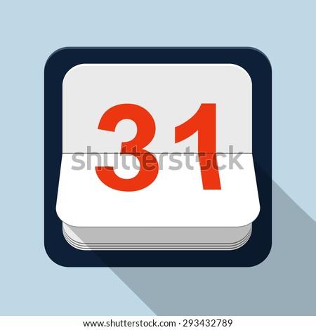 Calendar Vector Illustration  - stock vector