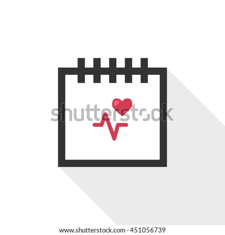 Calendar vector illustrator & conceptual icon