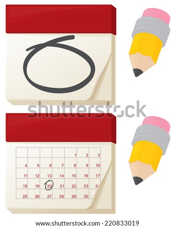 Calendars marking that important date.  - stock vector