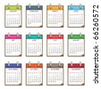 calender for 2011 in clip board design isolated on white - stock vector