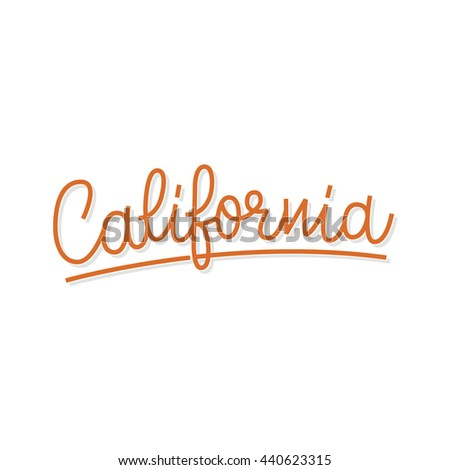 California lettering. Retro typography. Vintage text. - stock vector