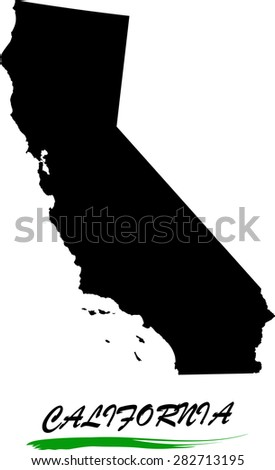 California map vector in black and white background, California map outlines in a new creative design - stock vector