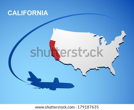 California on USA map