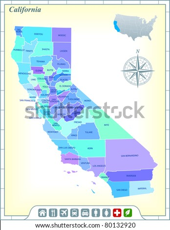 California State Map Stock Images RoyaltyFree Images Vectors - California state map