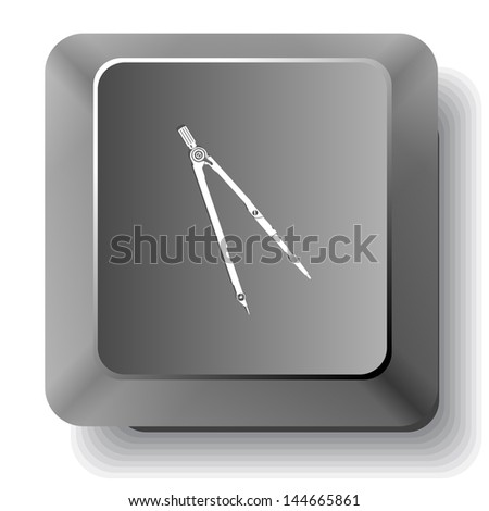 Caliper. Vector computer key. - stock vector
