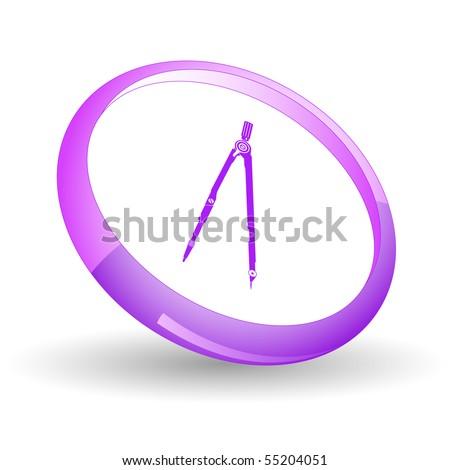 Caliper. Vector icon. - stock vector