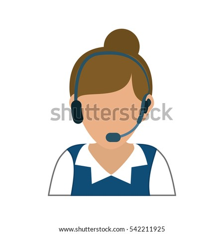 Call center operator avatar woman headset stock vector for Graphic design consultant