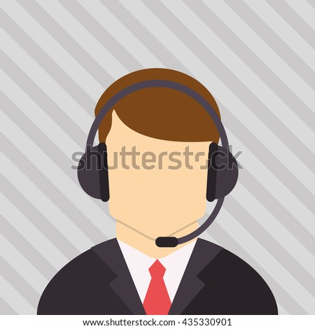 Call center design. Communication icon. flat illustration, vecto